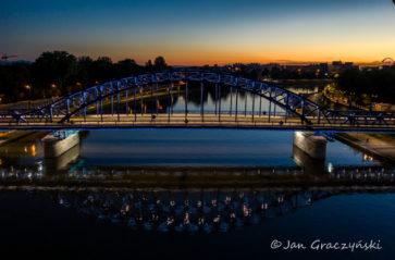 Odbiory iluminacji mostu Piłsudskiego