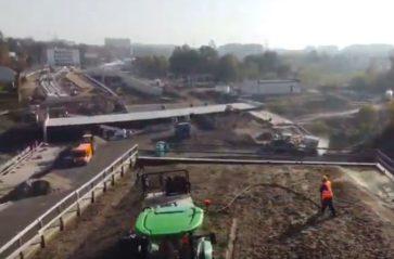 Hydrosiew na budowie Trasy Łagiewnickiej