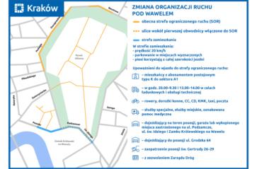Zmiany w organizacji ruchu drogowego pod Wawelem
