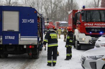 Strażacy wciąż pracują na terenie archiwum Urzędu Miasta Krakowa