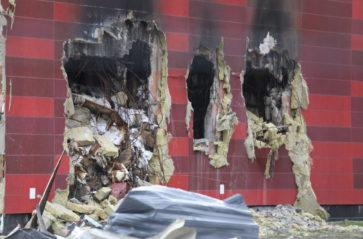 Rozbiórka uszkodzonych budynków Archiwum UMK
