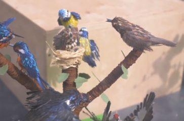 Drzewka emausowe na wystawie w Barbakanie