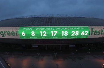 Zegar w Krakowie odlicza czas do katastrofy klimatycznej