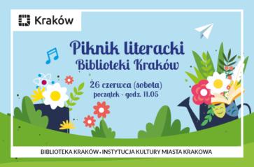 Piknik literacki w ogrodzie Biblioteki Kraków