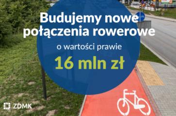 16 mln zł na nowe drogi rowerowe