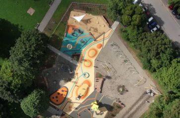 Nowy plac zabaw w parku Krowoderskim