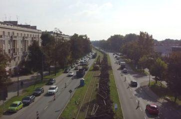 Przebudowa torowiska na al. Jana Pawła II i ul. Ptaszyckiego