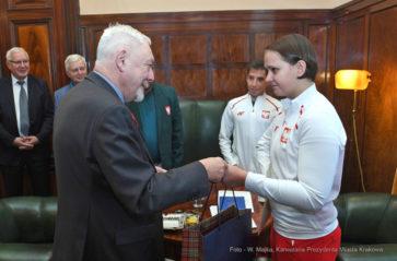 Spotkanie paraolimpijczyków z prezydentem Krakowa